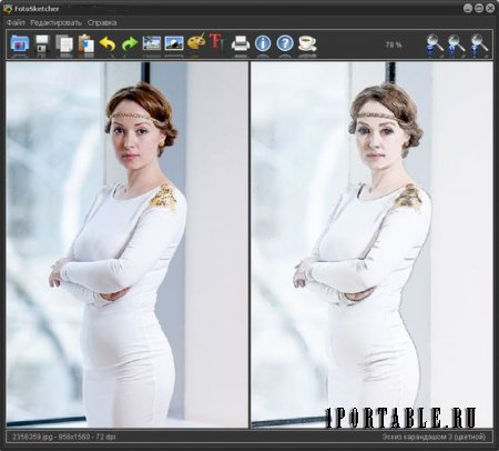 FotoSketcher 2.80 Rus Portable - ���������� ���������� � ����������� �������