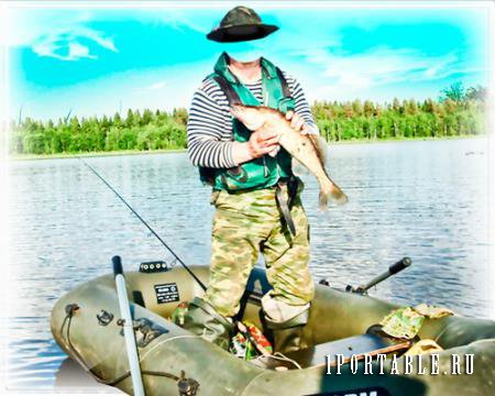 рыбак шаблон для фотошопа