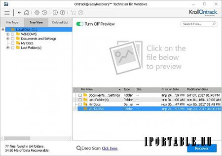 Ontrack EasyRecovery Technician 12.0.0.2 En Portable by Baltagy - восстановление утерянных данных