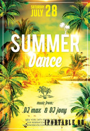 Summer Dance psd flyer template
