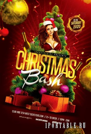 Christmas Bash psd flyer template